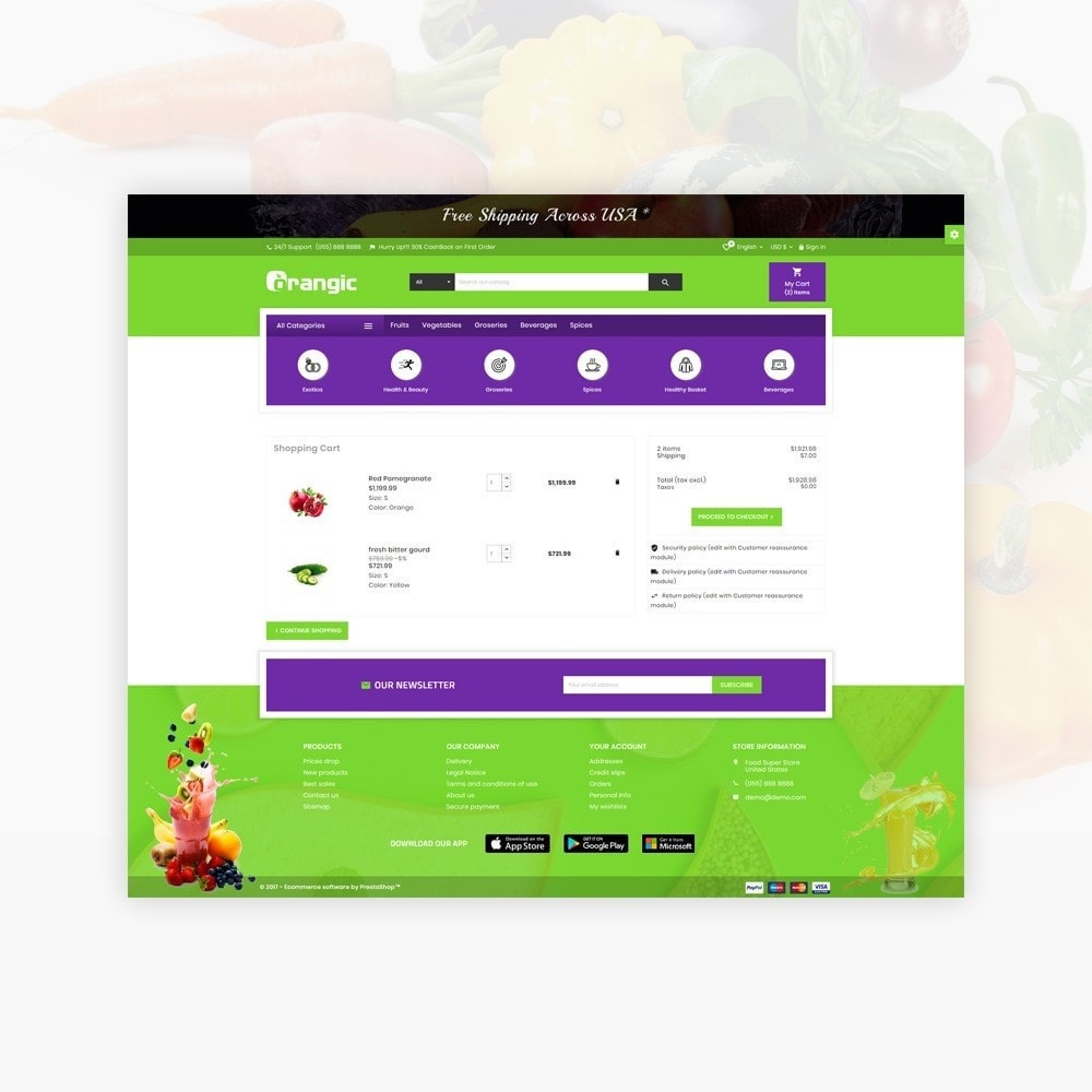 theme - Food & Restaurant - Orangic – Fresh Green Foods Super Store - 5