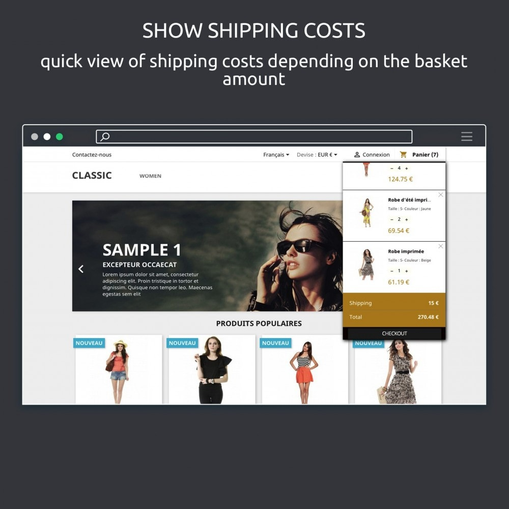 module - Registration & Ordering Process - Block Cart : Show Shopping Cart on Hover - 5