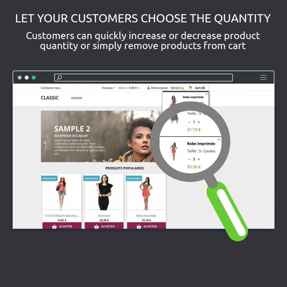 module - Registration & Ordering Process - Block Cart : Show Shopping Cart on Hover - 6