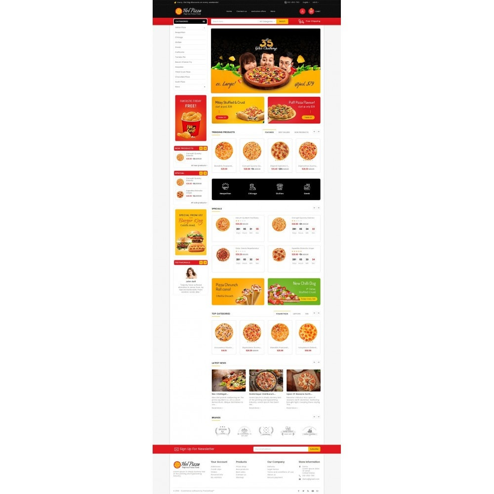 theme - Food & Restaurant - Paprika Pizza - Fast Food - 2