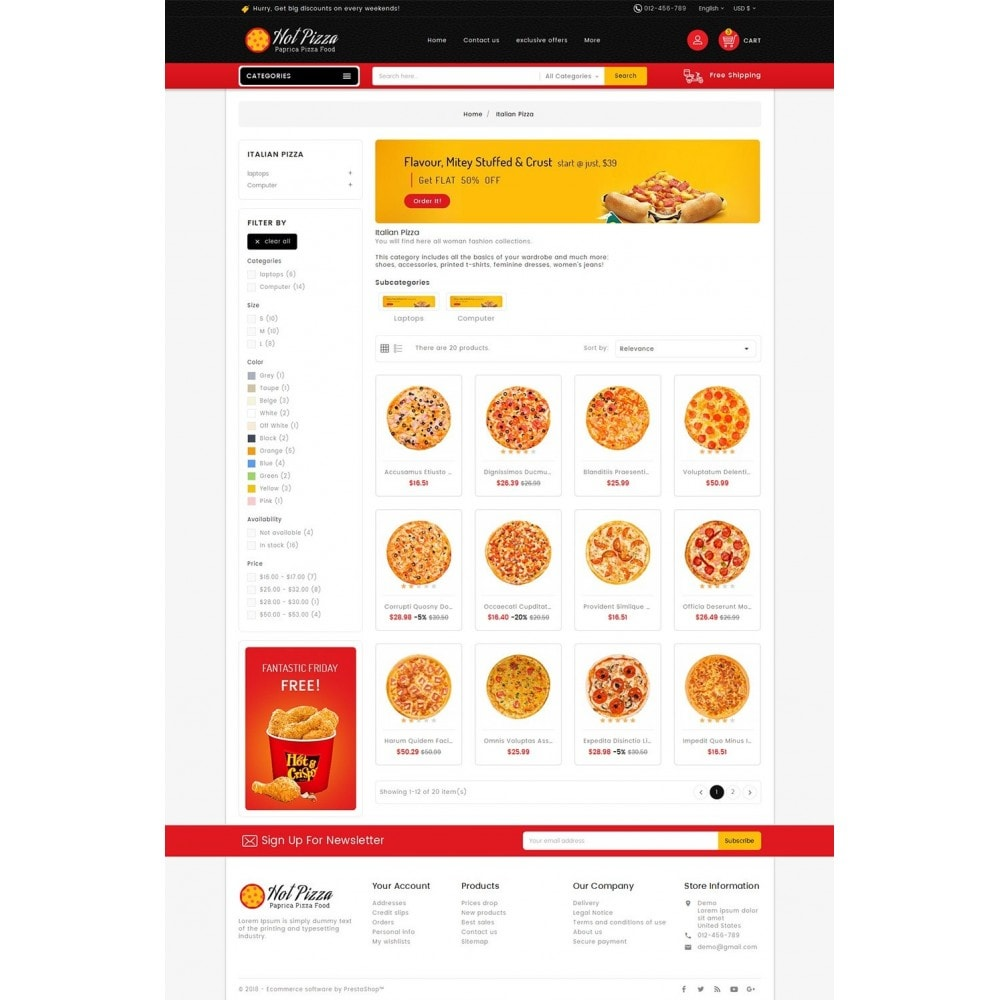 theme - Food & Restaurant - Paprika Pizza - Fast Food - 3