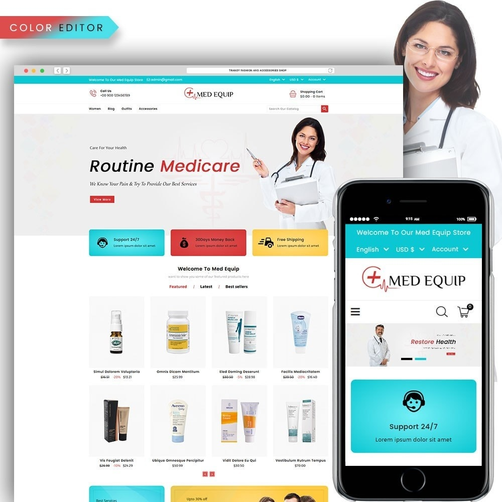 theme - Salute & Bellezza - Health and Medical Equipment Store - 1