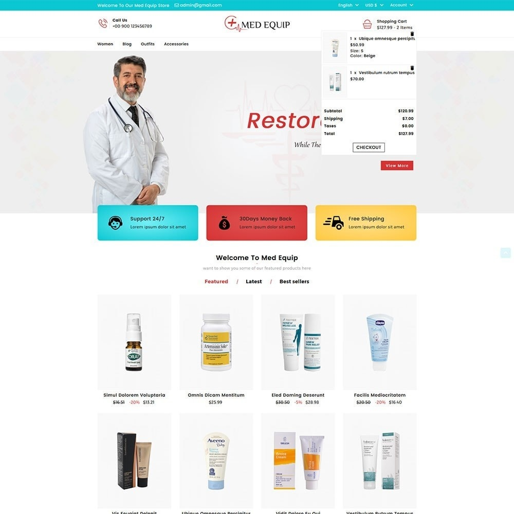 theme - Salute & Bellezza - Health and Medical Equipment Store - 3
