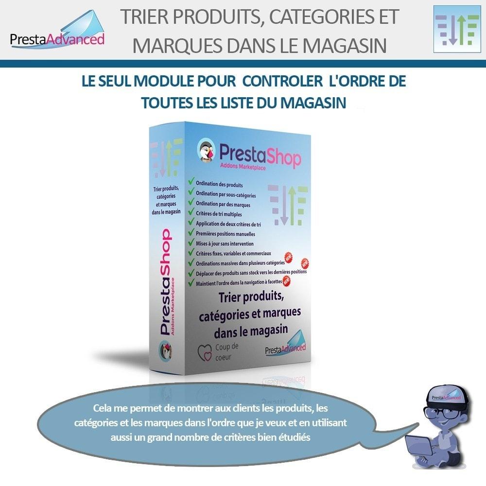 module - Personnalisation de Page - Tri de produits, catégories et marques dans le magasin - 1