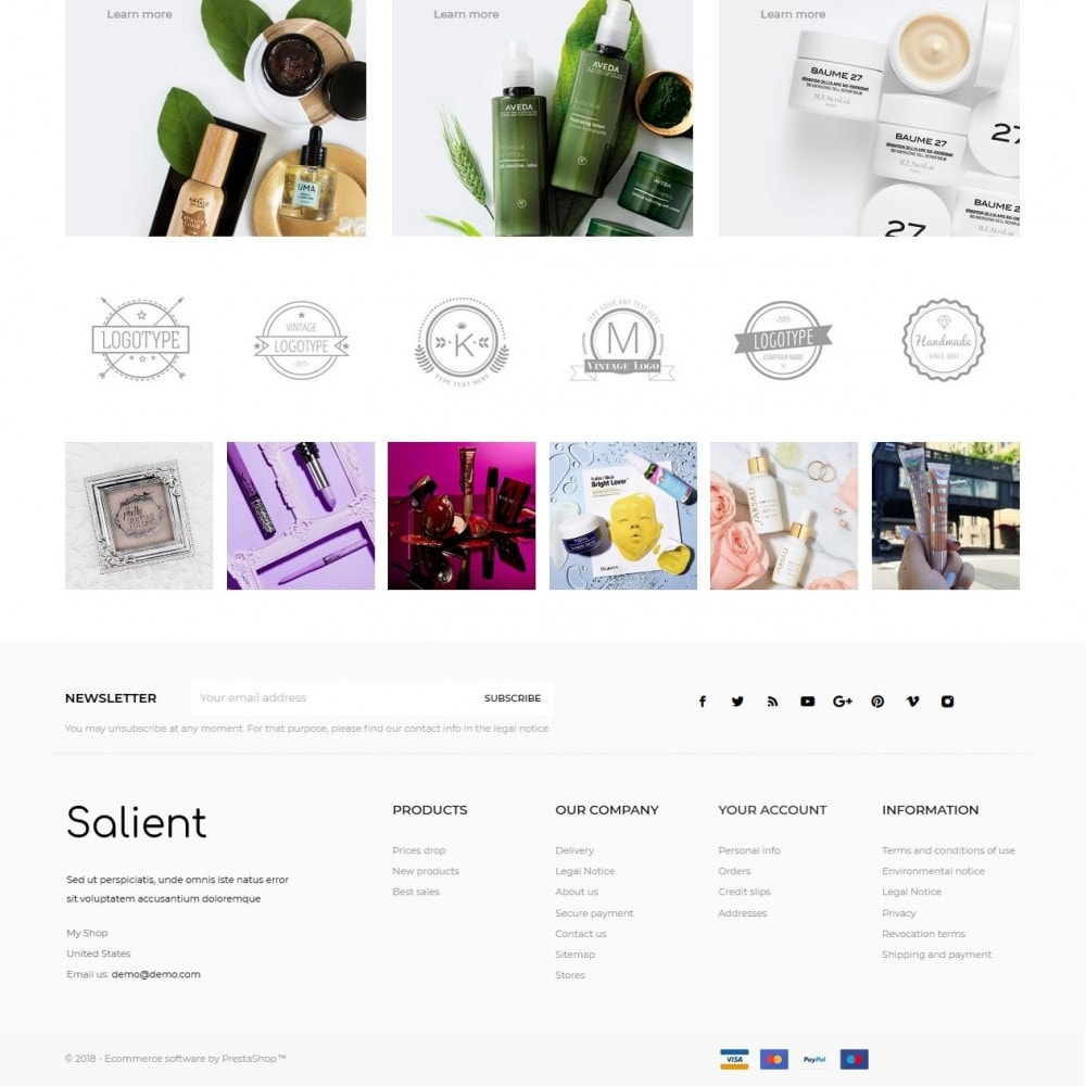 theme - Salute & Bellezza - Salient Cosmetics - 4