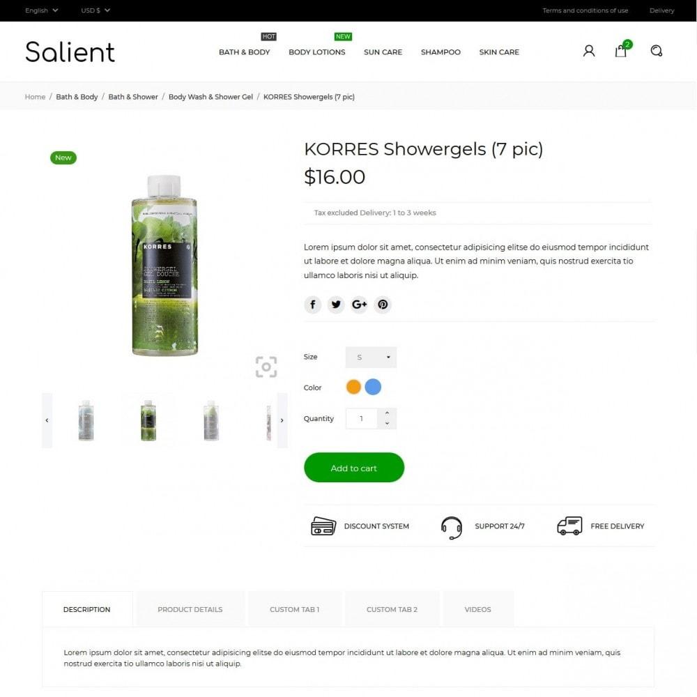 theme - Saúde & Beleza - Salient Cosmetics - 5