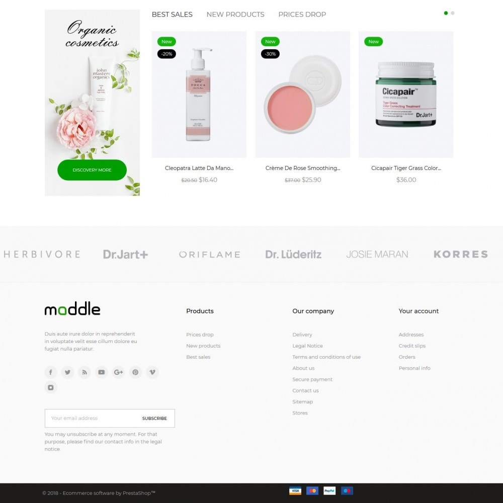 theme - Health & Beauty - Maddle Cosmetics - 4