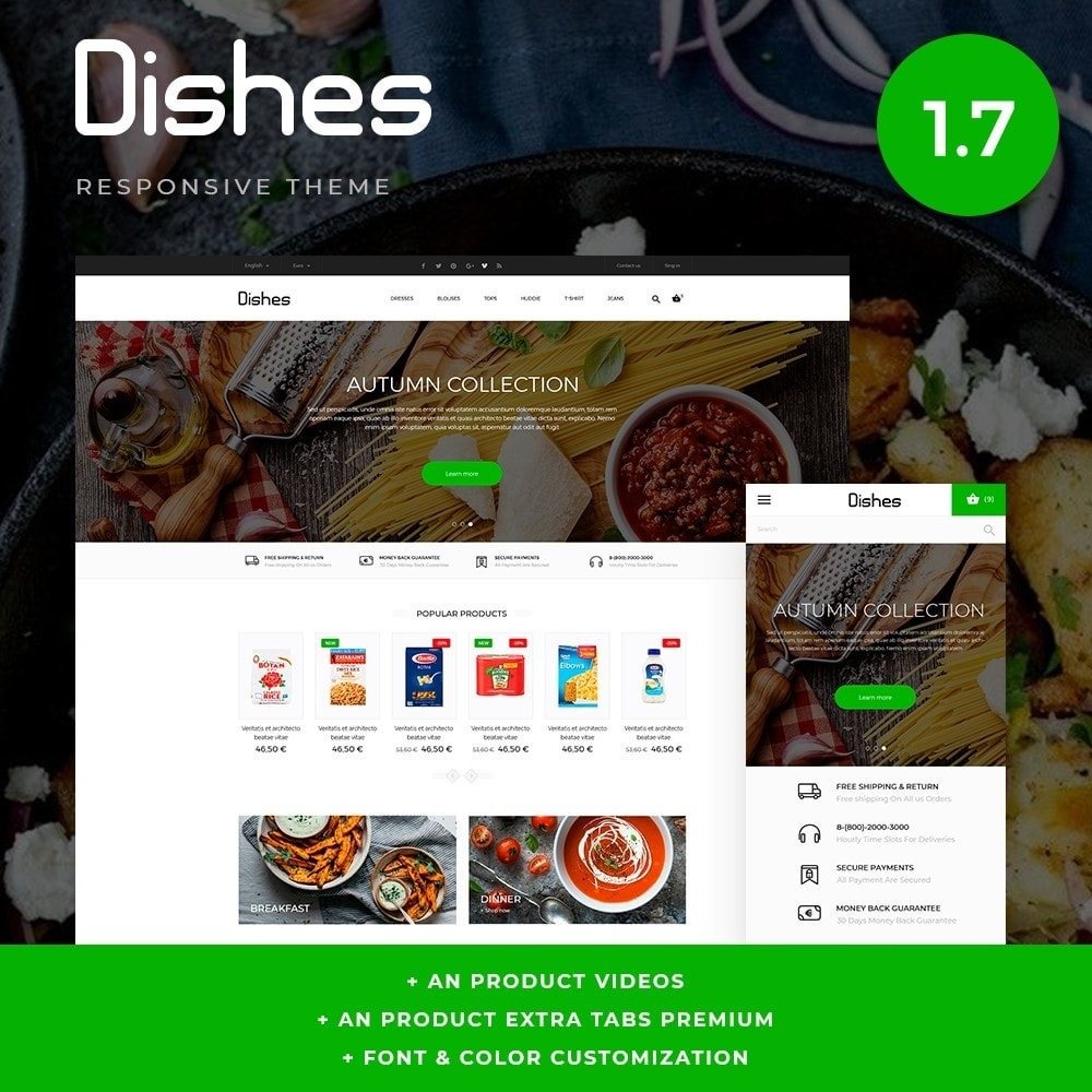 theme - Food & Restaurant - Dishes - 1