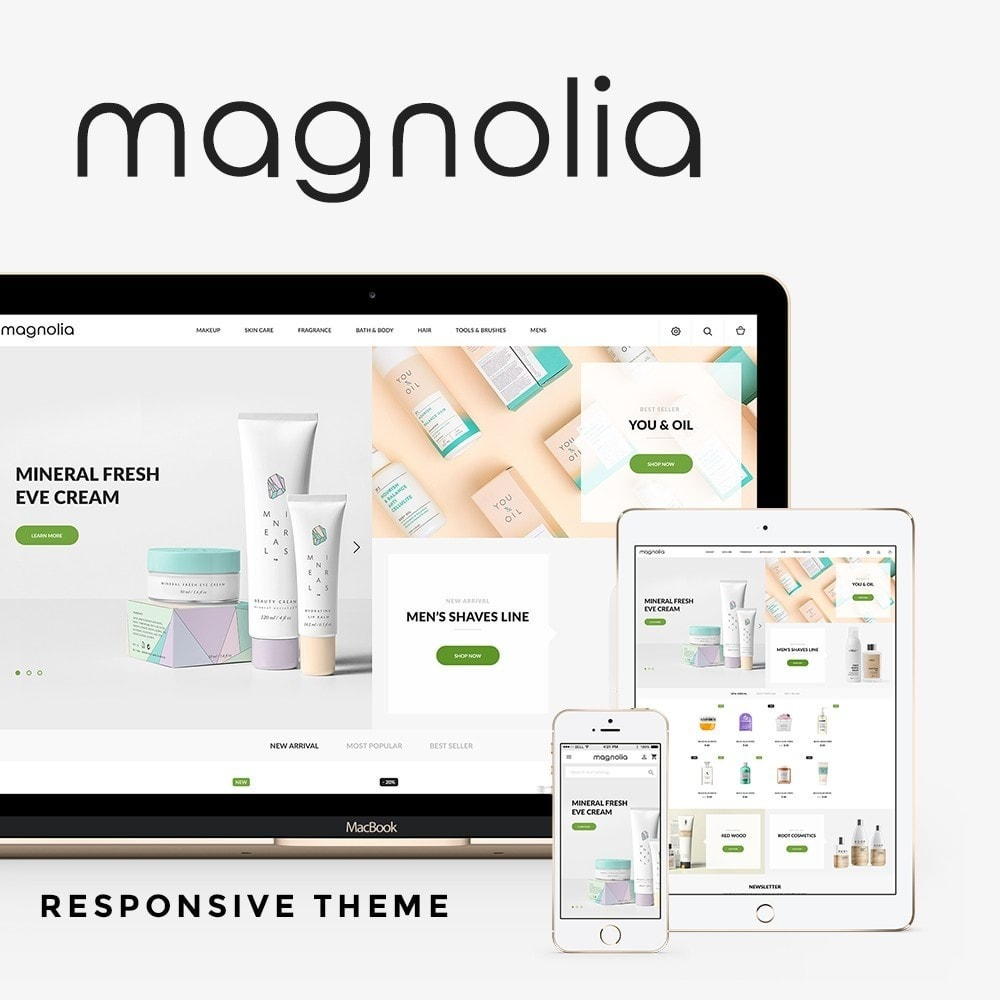 theme - Health & Beauty - Magnolia Cosmetics - 1