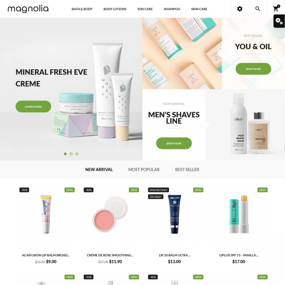 theme - Health & Beauty - Magnolia Cosmetics - 2