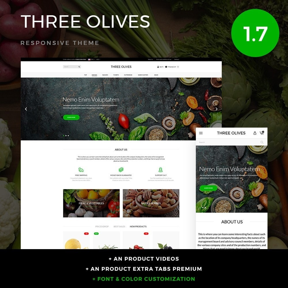 theme - Alimentos & Restaurantes - Three olives Cosmetics - 1