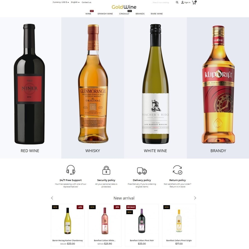 theme - Bebidas & Tabaco - Gold Wine Shop - 2