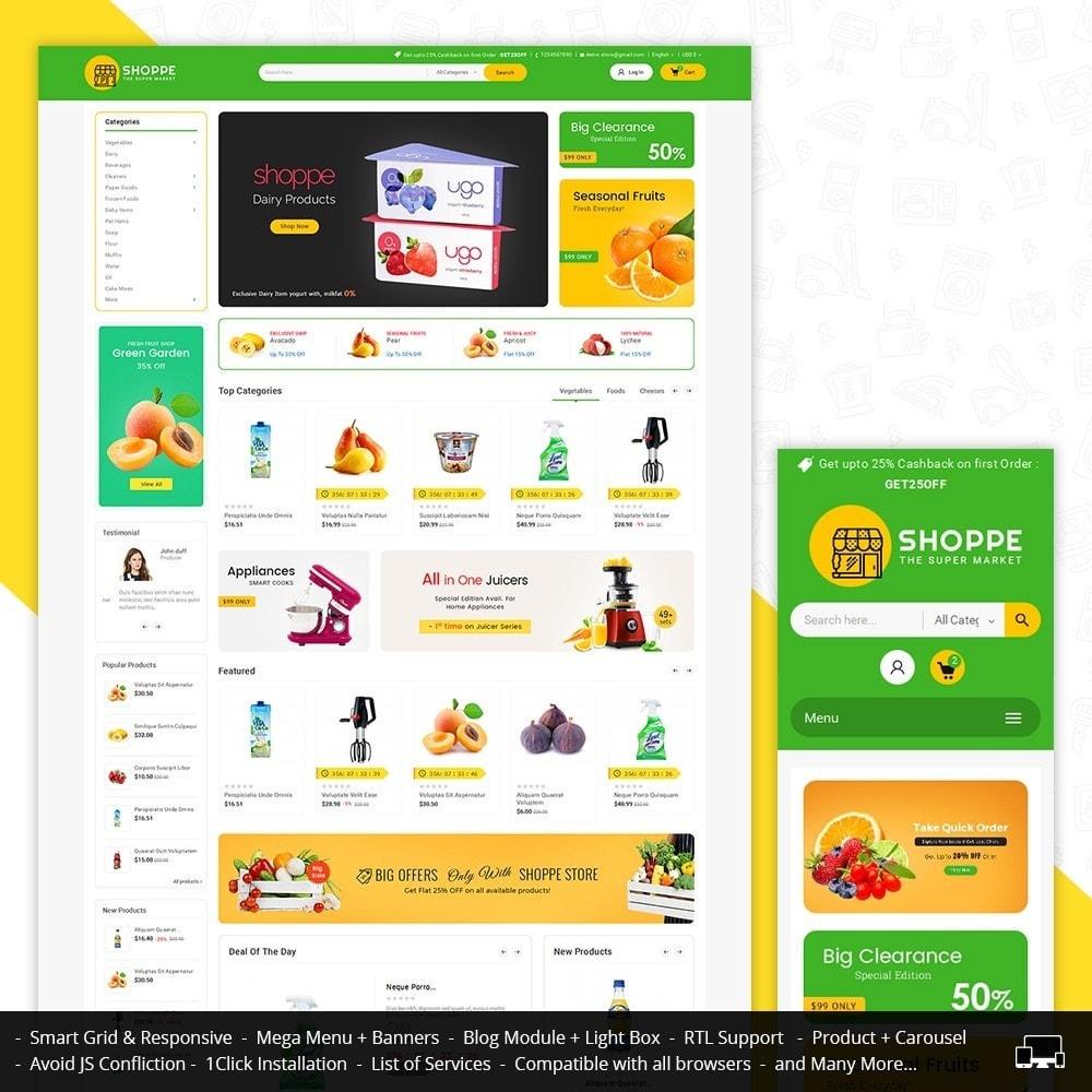 theme - Gastronomía y Restauración - Mega Shoppe Grocery - 1