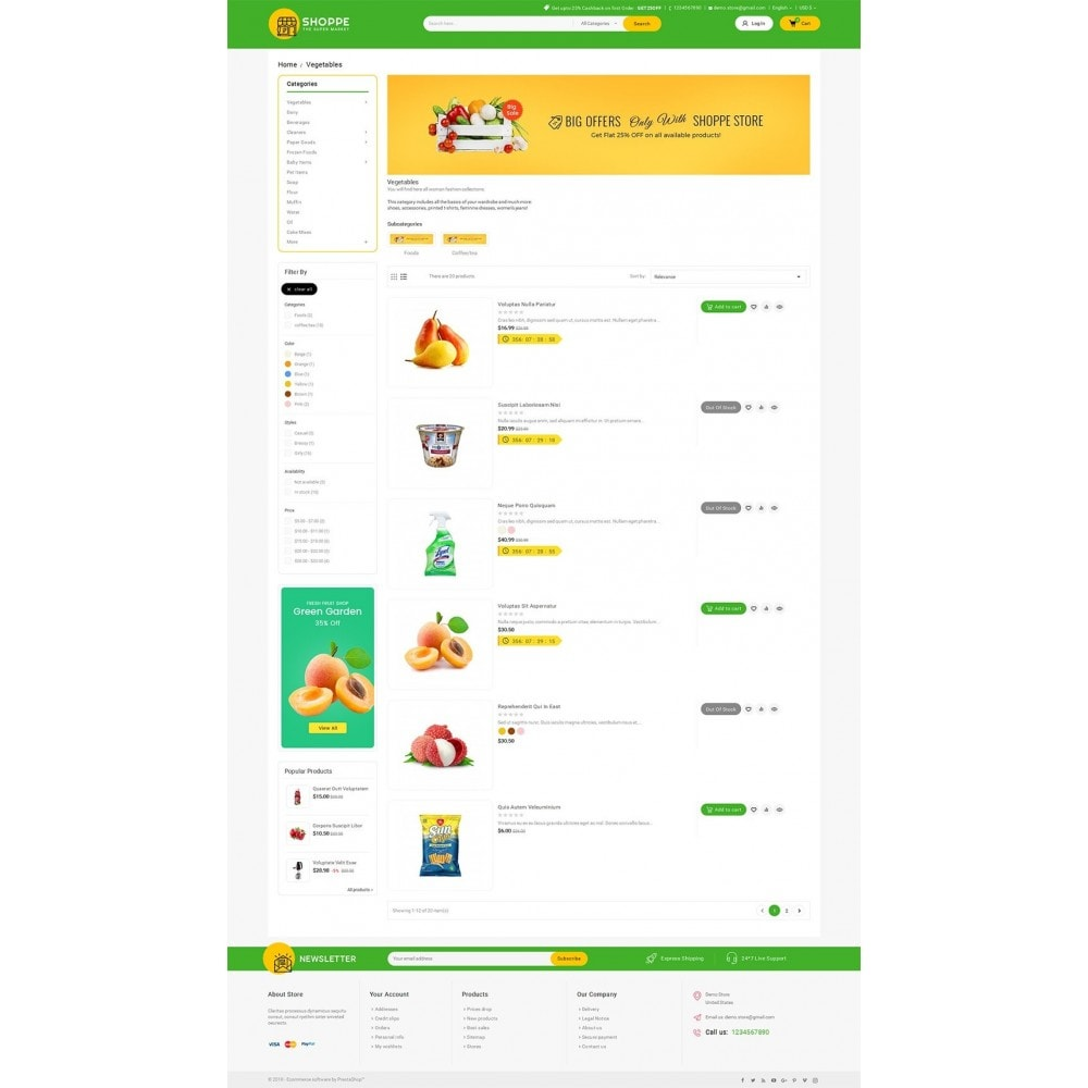 theme - Food & Restaurant - Mega Shoppe Grocery - 4