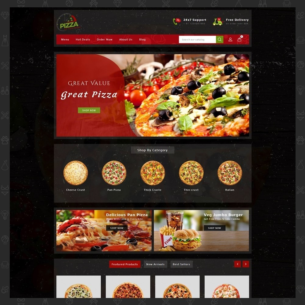 theme - Food & Restaurant - Pizza Store - 2