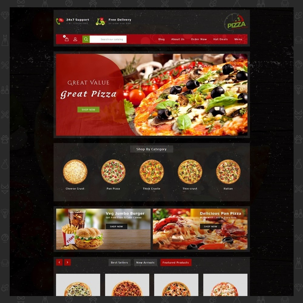 theme - Food & Restaurant - Pizza Store - 11