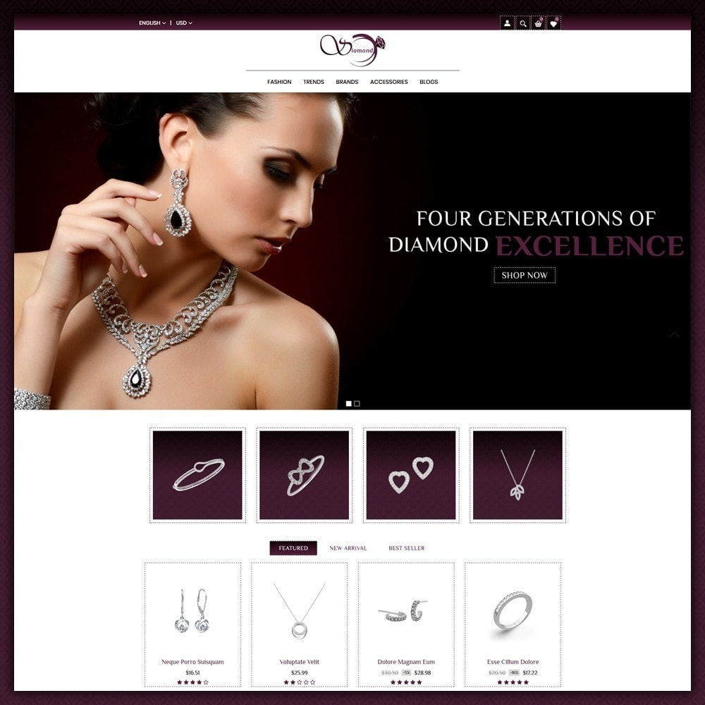 theme - Bellezza & Gioielli - Diamond Jewellery Shop - 2