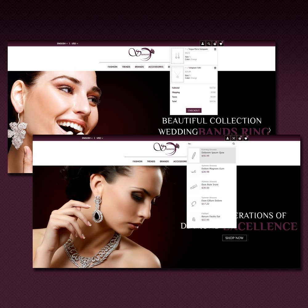 theme - Schmuck & Accesoires - Diamond Jewellery Shop - 5