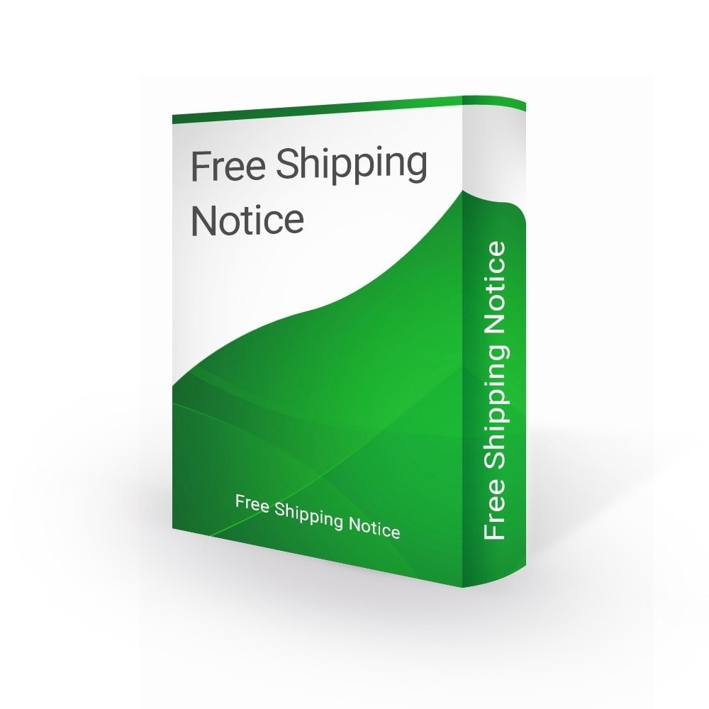 module - Gastos de transporte - Free Shipping Notification - 1