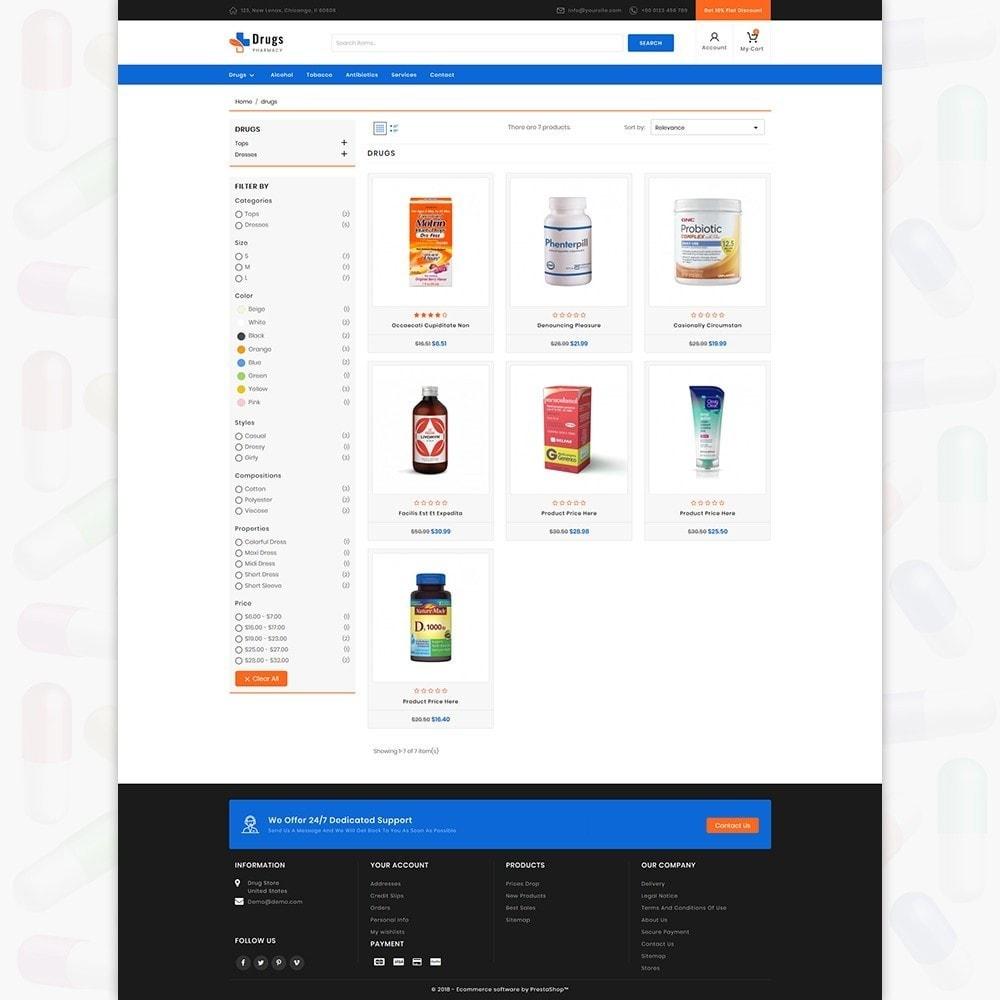 theme - Шаблоны PrestaShop - DrugStore - 3