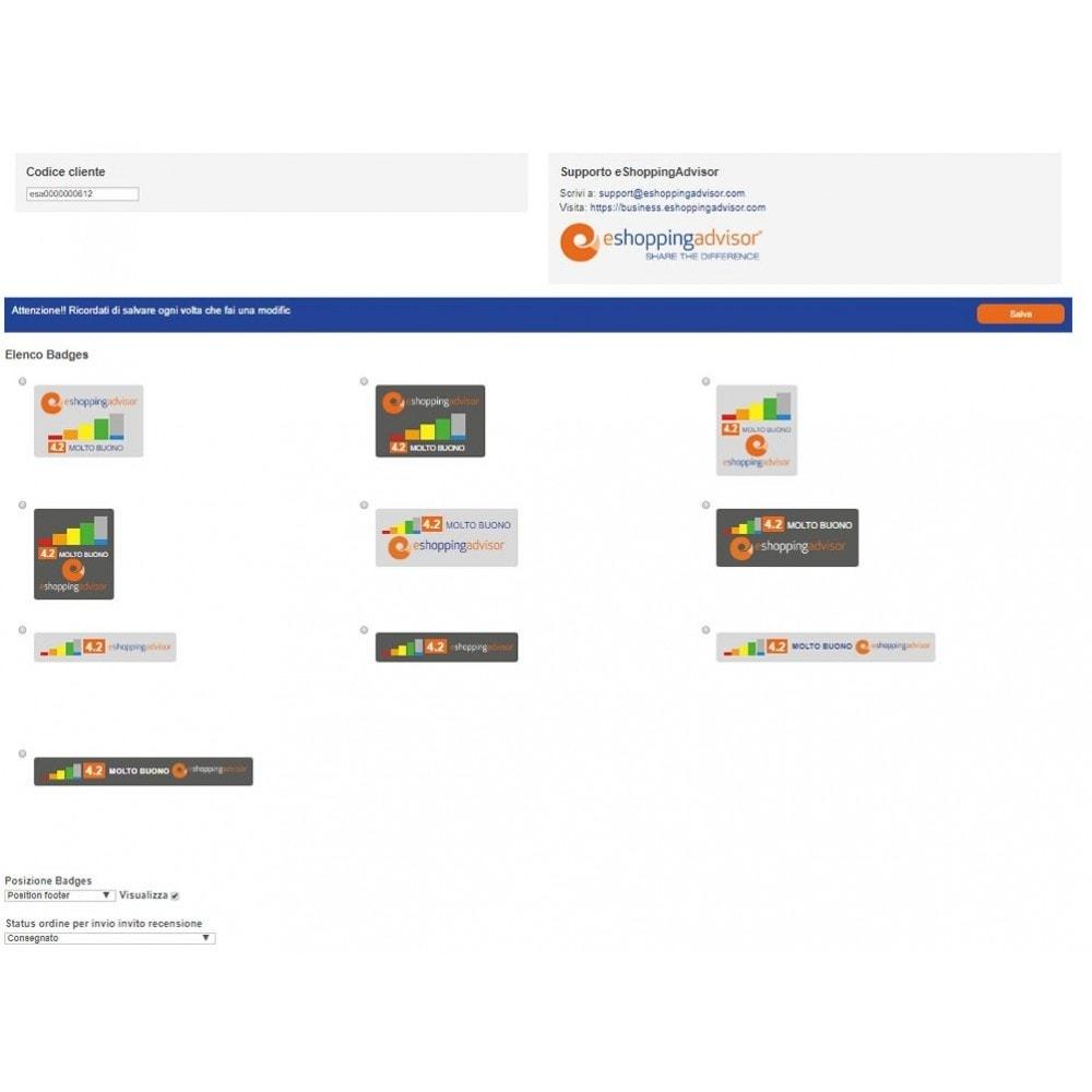 module - SEO - Review certificate module of eShoppingAdvisor.com - 2