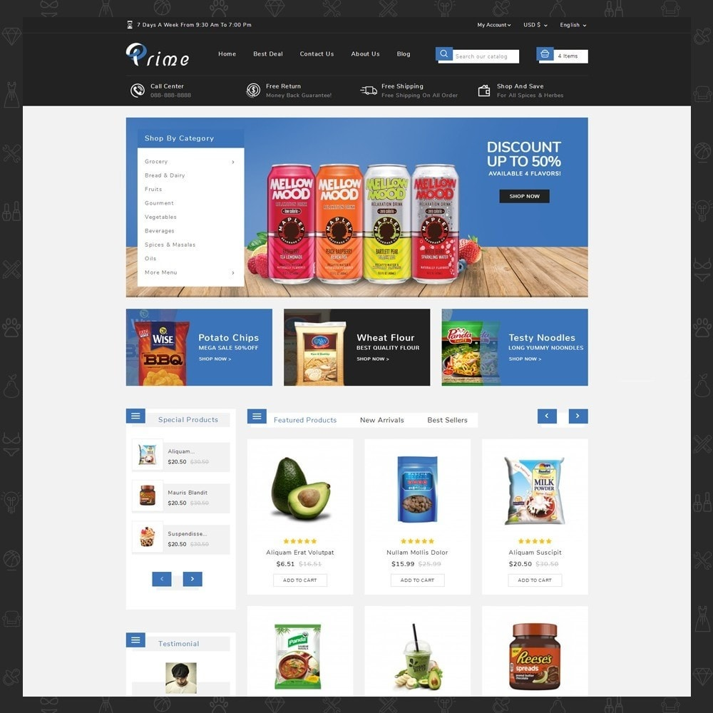theme - Food & Restaurant - Prime Grocery Store - 2