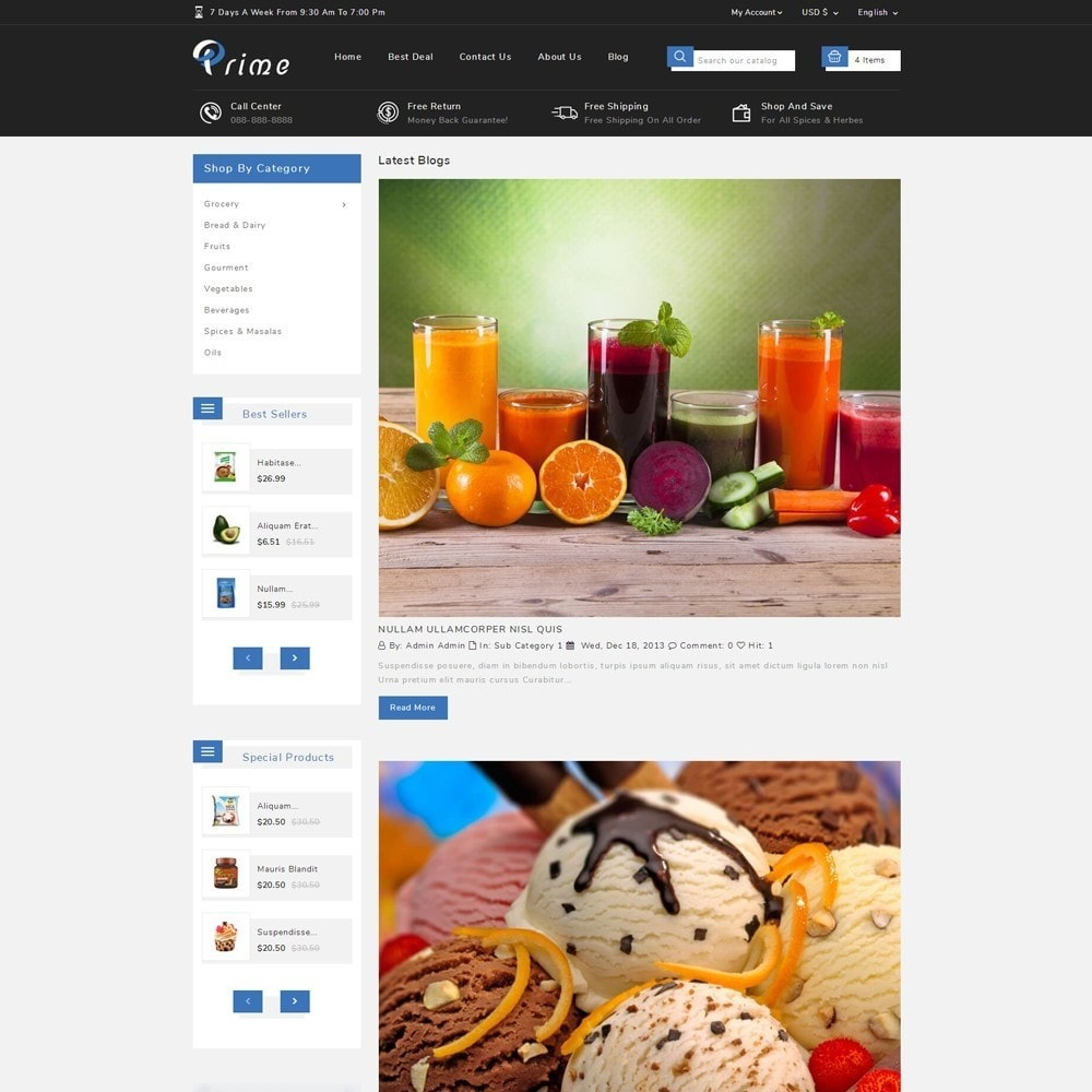 theme - Food & Restaurant - Prime Grocery Store - 10