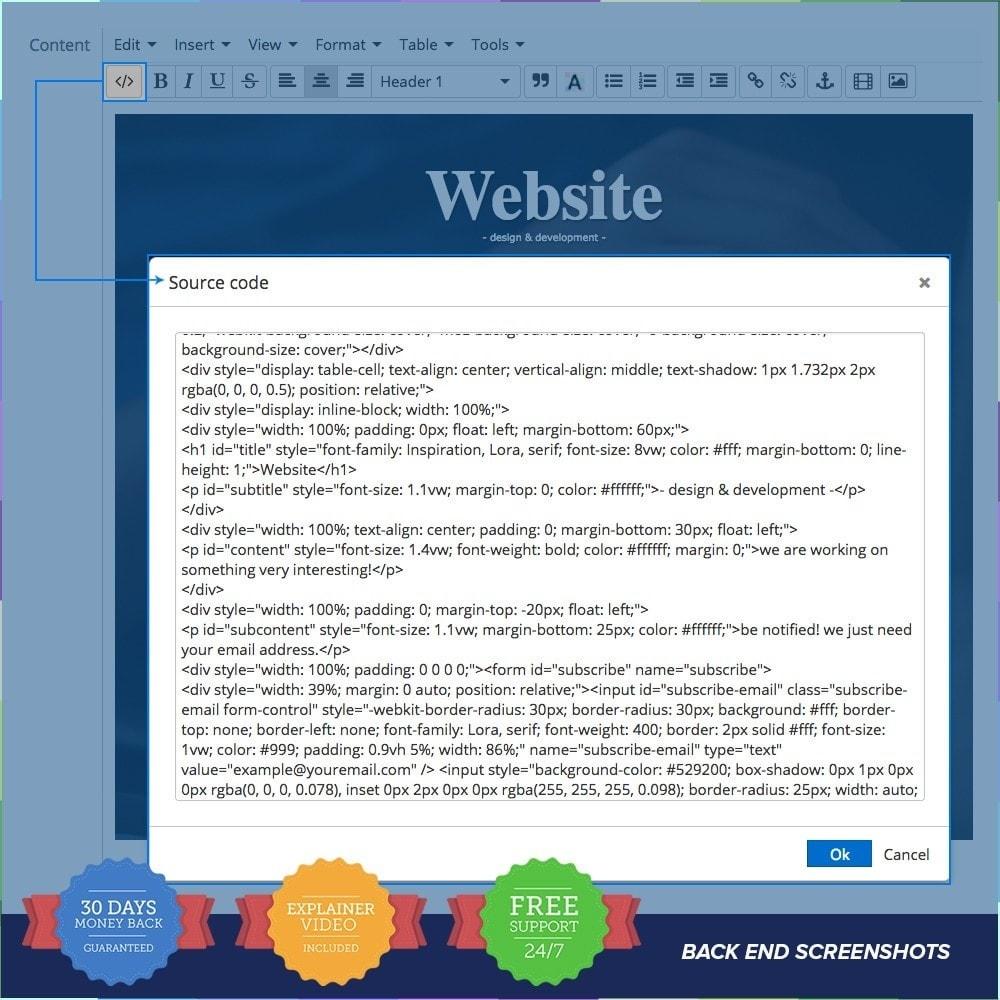 module - Personalizacja strony - Custom Maintenance Page PRO - 5