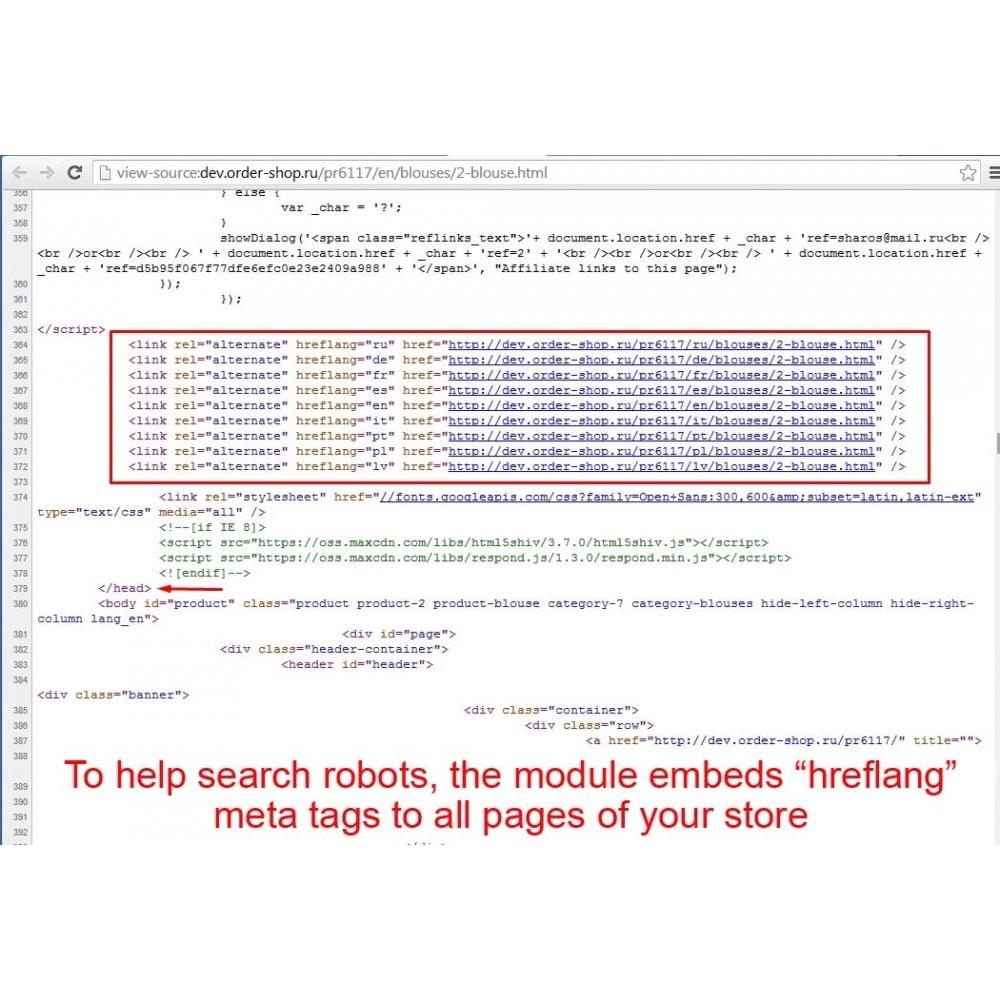 module - SEO (Referenciamento natural) - HrefLang Tag - 3