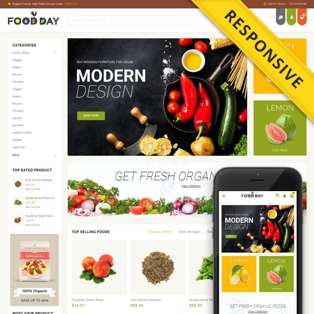 theme - Alimentation & Restauration - FoodDay - Food & Restaurant Store - 1