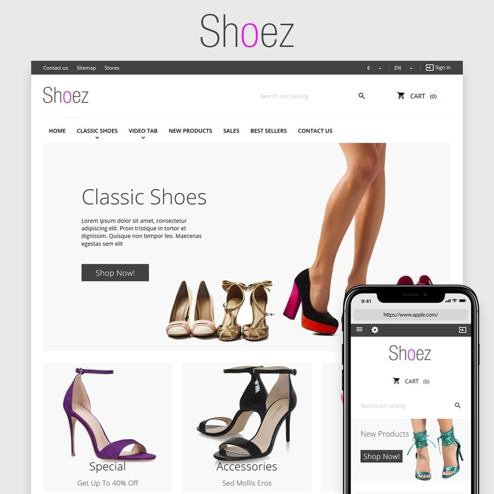 theme - Moda y Calzado - Shoez - 1