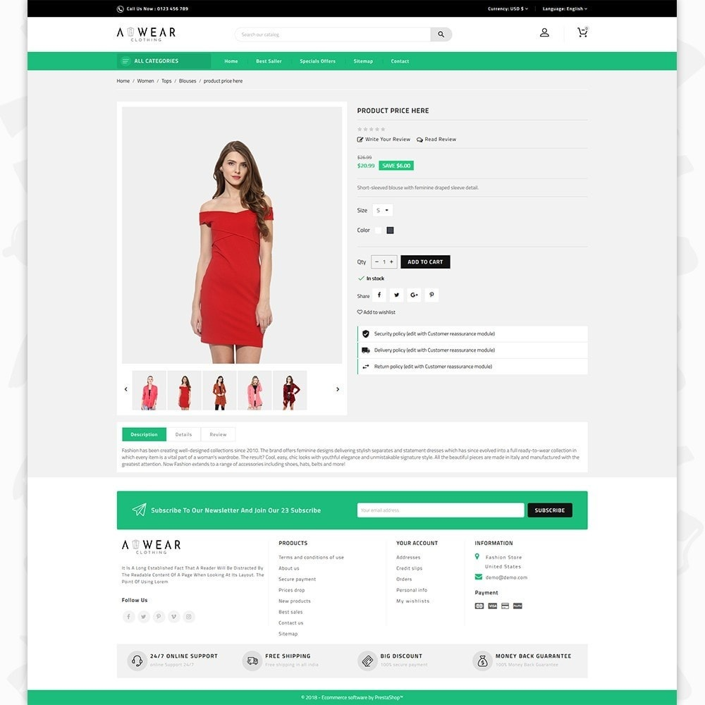 theme - Мода и обувь - Awear Clothing- The Fashion Store - 5