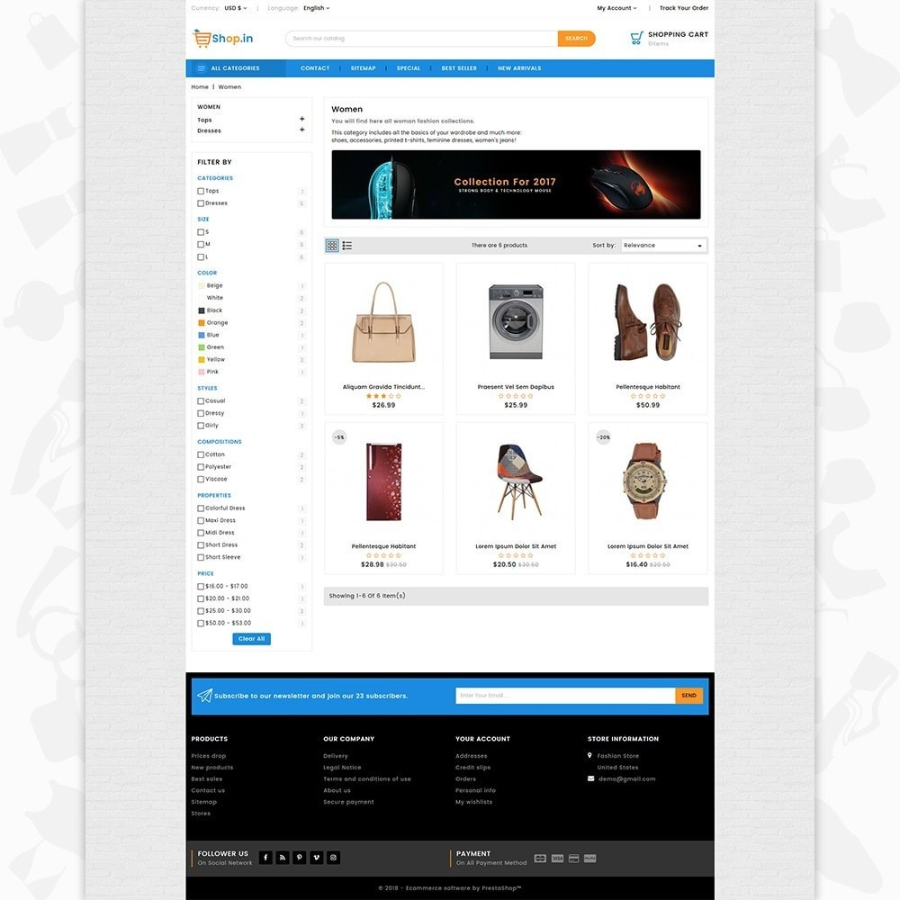 theme - Moda & Calzature - Shop in -The Fashion Store - 3