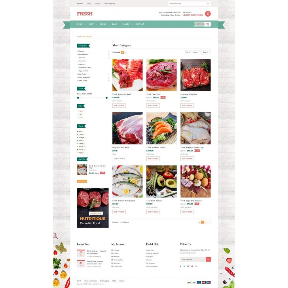 theme - Food & Restaurant - Fresh Store II - 8