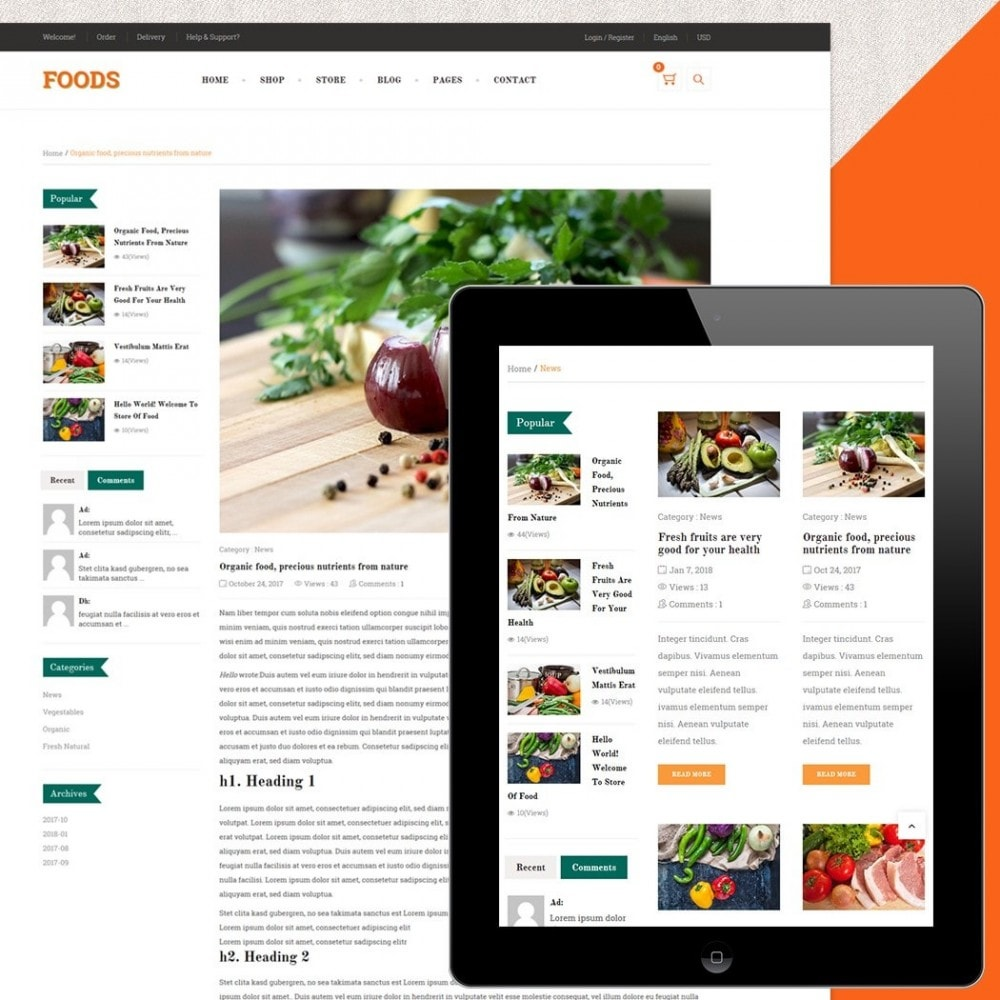 theme - Food & Restaurant - Food Shop II - 5