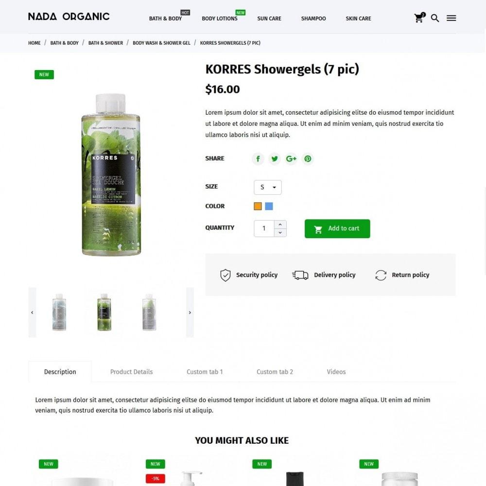 theme - Santé & Beauté - Nada Organic - 6