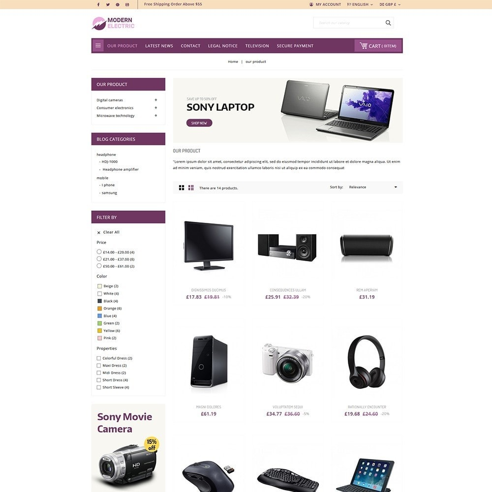 theme - Elektronika & High Tech - Modern Electric - Electronics Store - 4