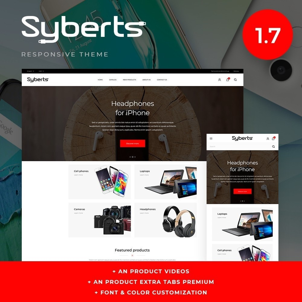 theme - Eletrônicos & High Tech - Syberts - High-tech Shop - 1