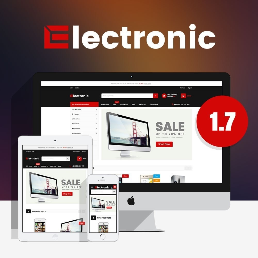 theme - Electronics & Computers - Electronic Online Store - 1