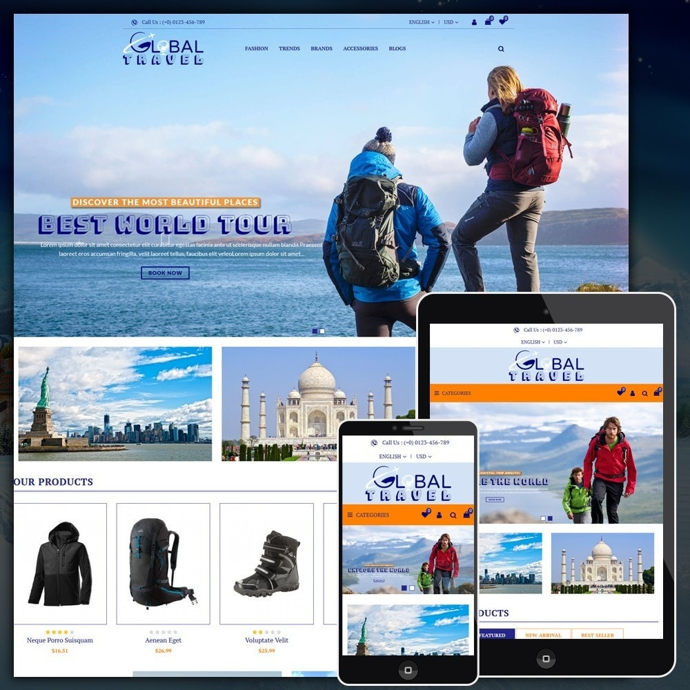 theme - Sport, Loisirs & Voyage - Travel Store - 1