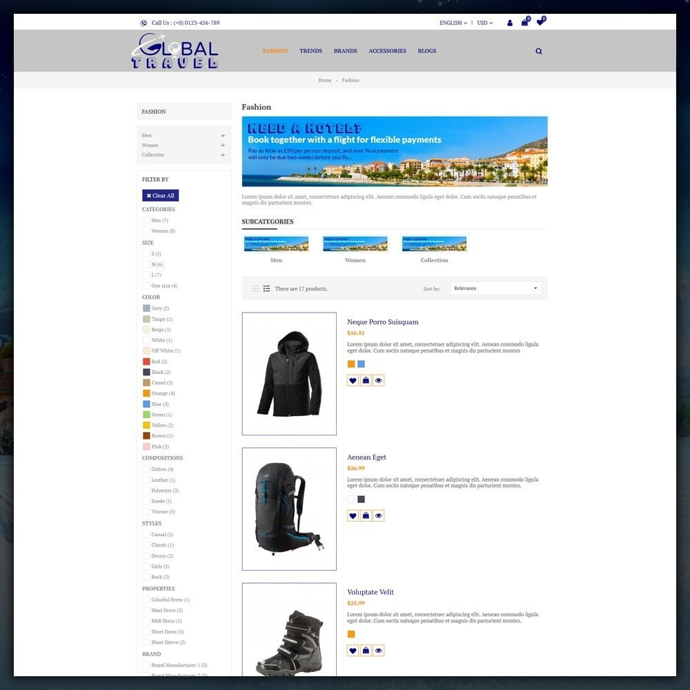 theme - Sport, Loisirs & Voyage - Travel Store - 4