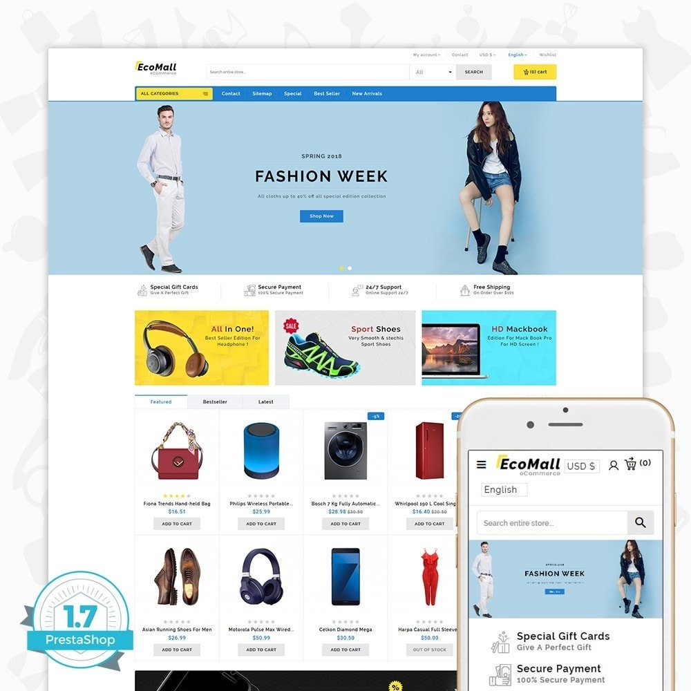theme - Elektronik & High Tech - EcoMall - The Mega Ecommerce Store - 1