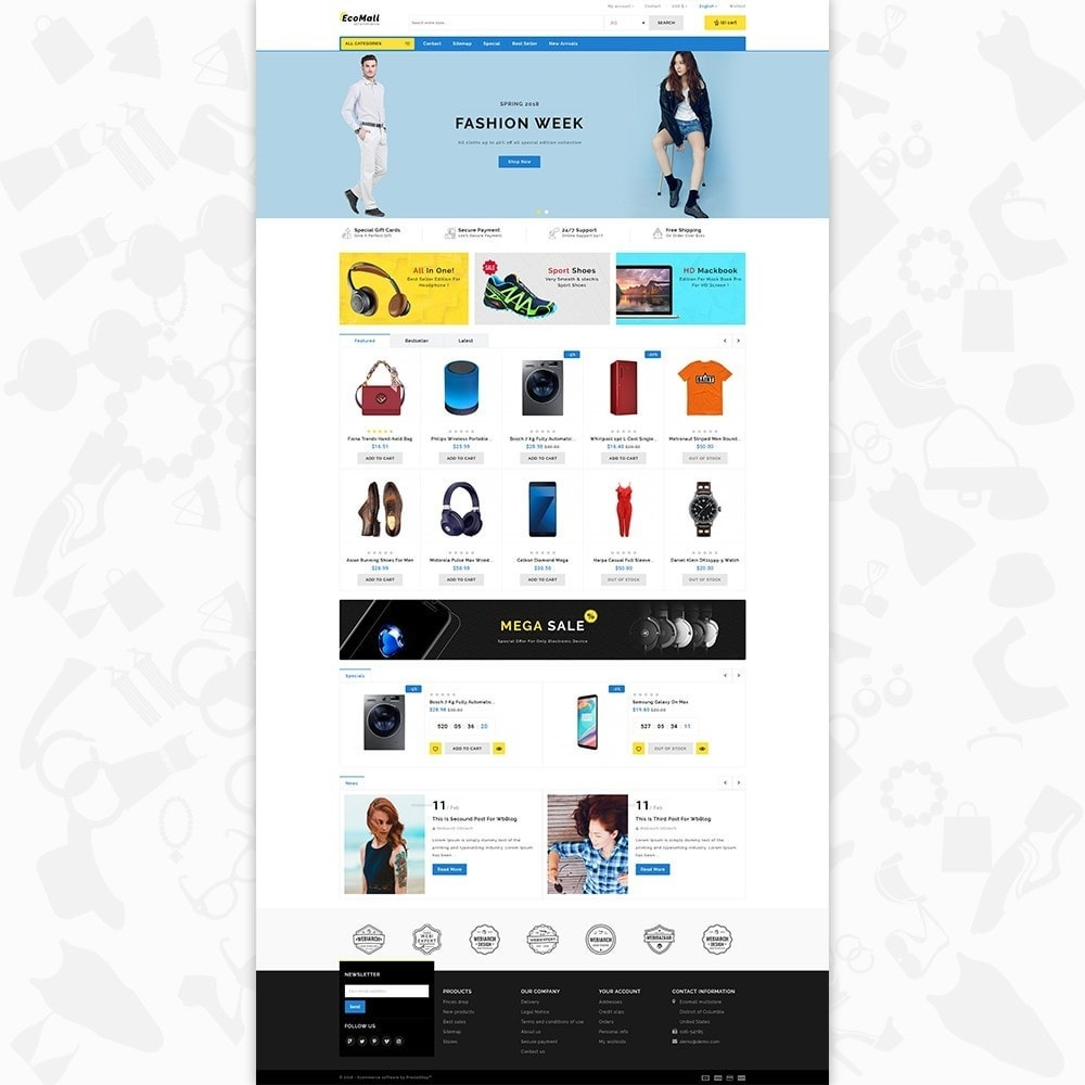 theme - Elettronica & High Tech - EcoMall - The Mega Ecommerce Store - 2