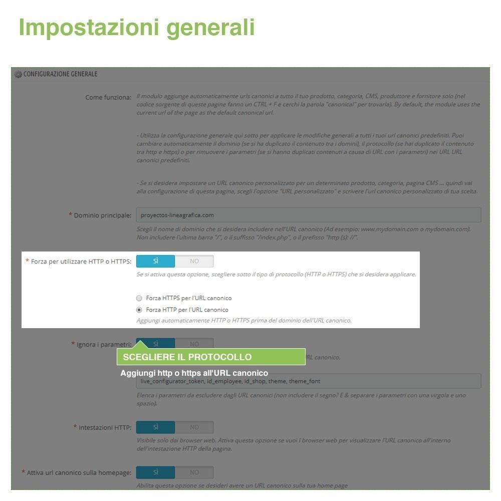 module - URL & Redirect - URL canonici per evitare duplicati contenuti - SEO - 3