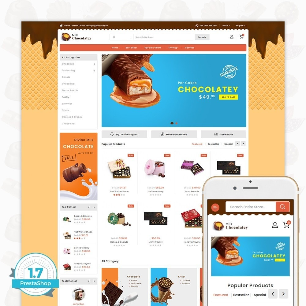 theme - Lebensmittel & Restaurants - Milk Chocolaty - 1