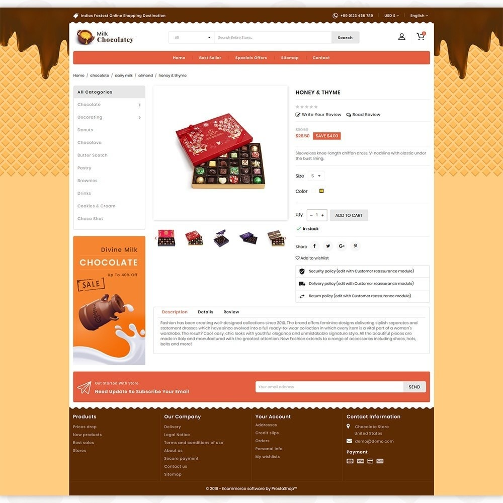 theme - Alimentation & Restauration - Milk Chocolaty - 5
