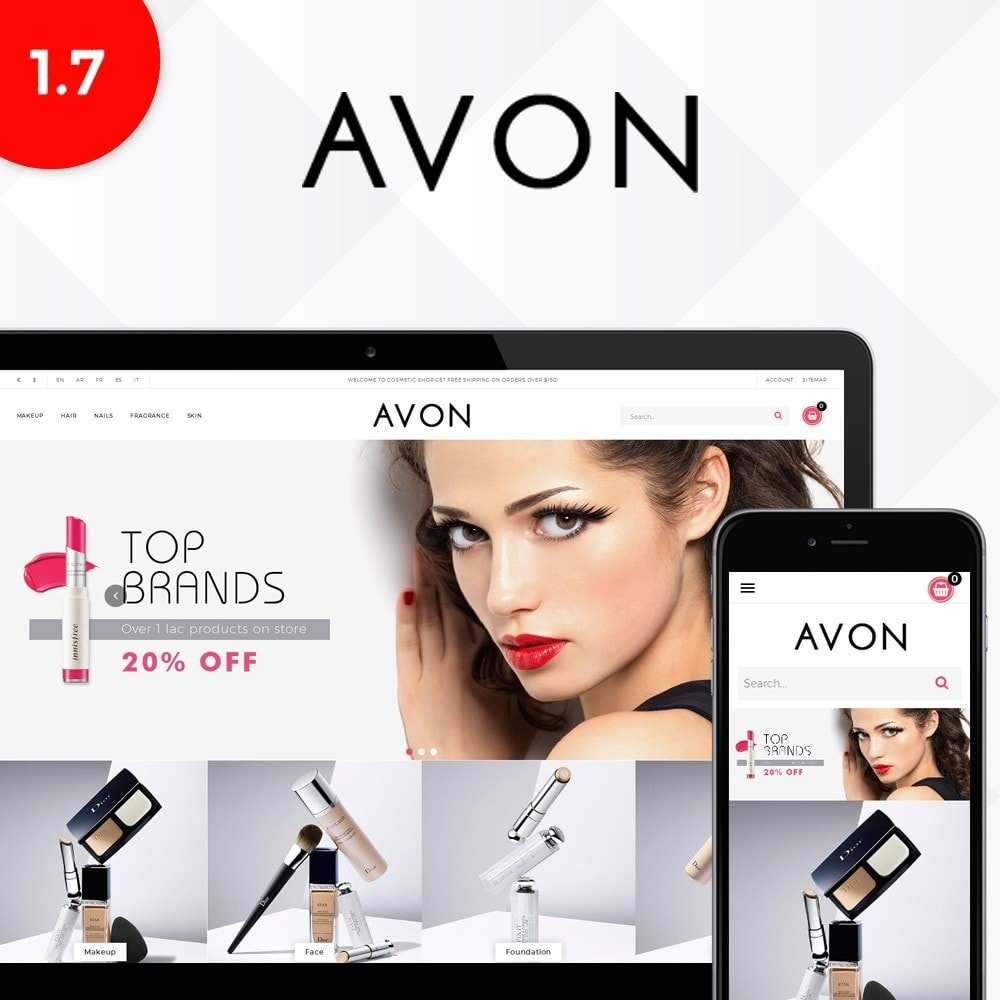 theme - Health & Beauty - AVON Cosmetic Store - 1