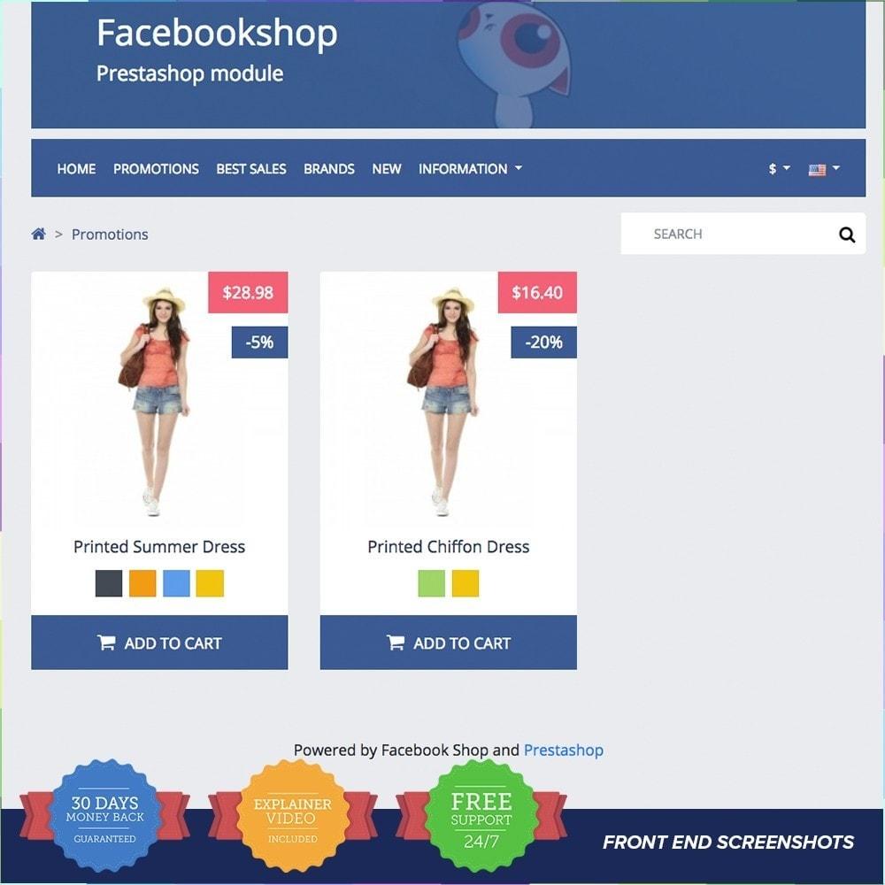 module - Produtos nas Facebook & Redes Sociais - Social Network Shop PRO - 3