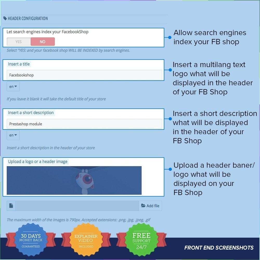 module - Produits sur Facebook & réseaux sociaux - Social Network Shop PRO - 5