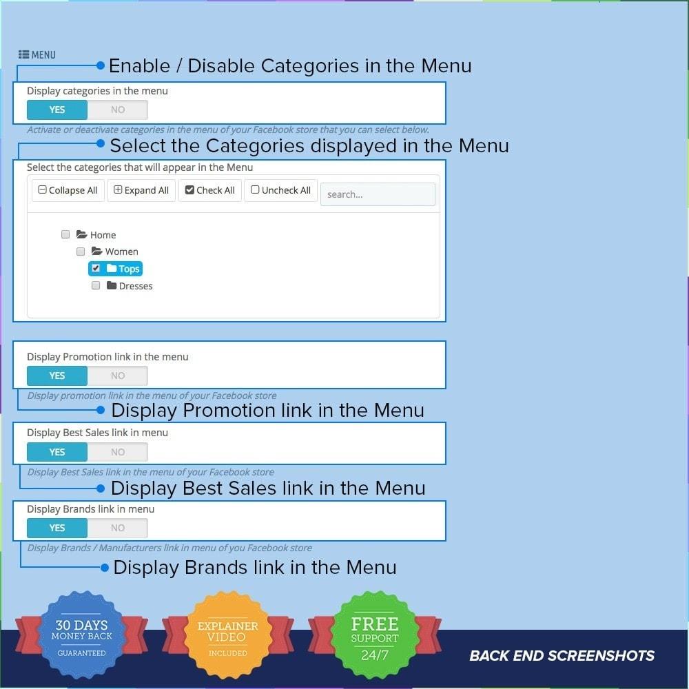 module - Produits sur Facebook & réseaux sociaux - Social Network Shop PRO - 7